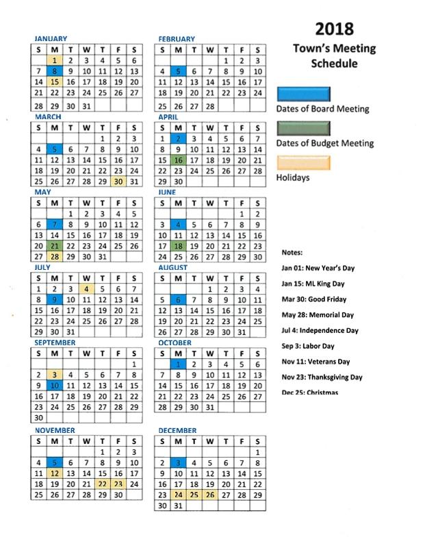 Meeting Schedule - Princeton