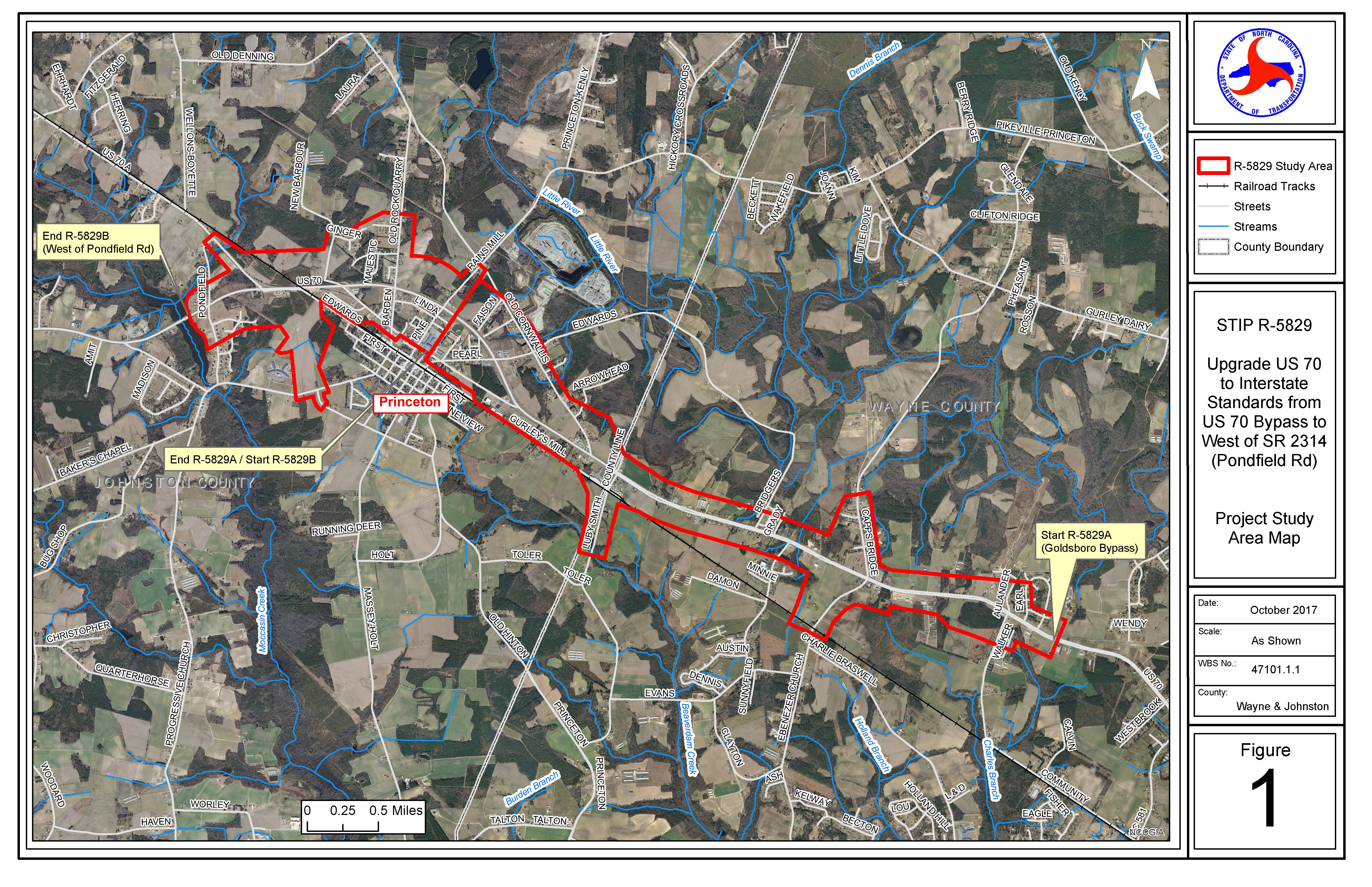 Princeton Nc Map.Future Interstate 42 Princeton